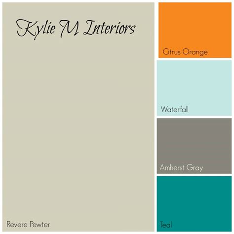 Blue Gray Bathroom Ideas revere pewter paint colour palette for boys room with
