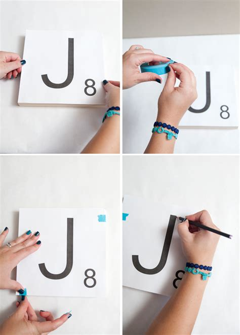 how to make scrabble tiles how to make scrabble tile table numbers