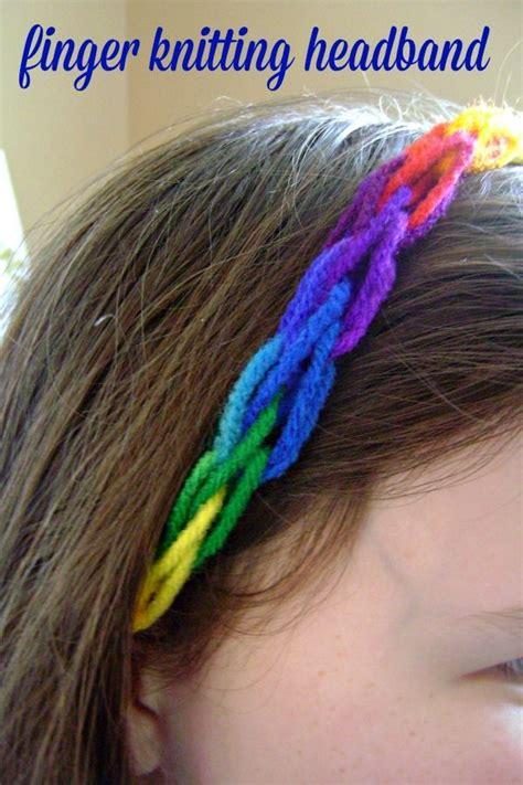 finger knit headband the 25 best finger knitting ideas on infinity