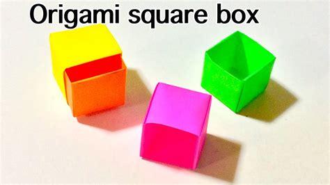 origami square box origami square box tutorial handsome origami square