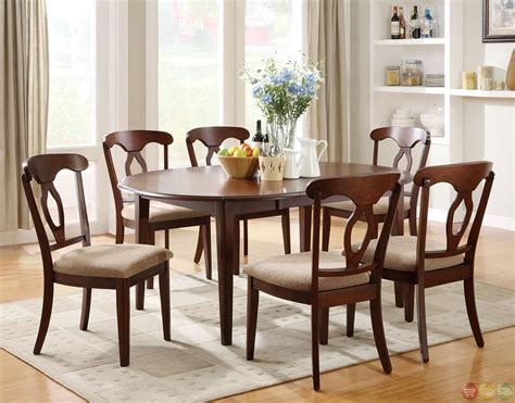 table dining room sets liam cherry finish 7 space saver dining room set