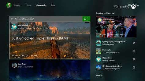 one new new xbox one interface shown quicker social and cortana