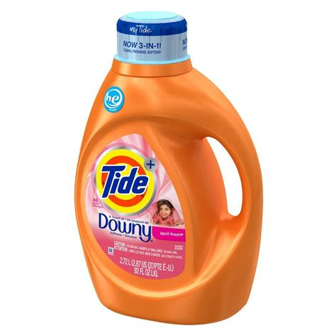 downy laundry tide 92 oz april fresh he liquid laundry detergent with