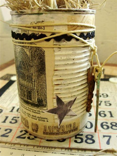 decoupage tin decoupage idea use of tin can planters for home