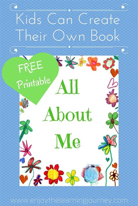 picture me book all about me book with free printable enjoy the learning