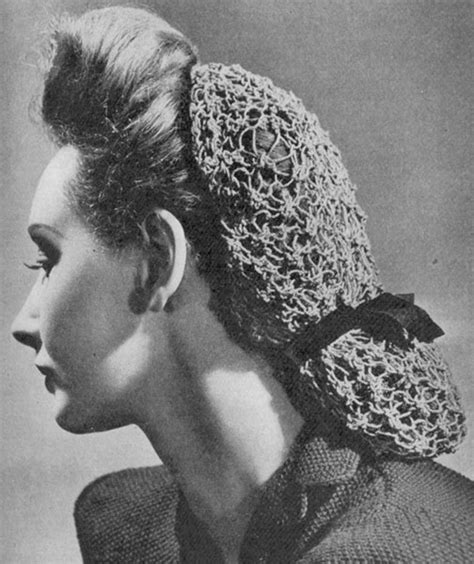 hair knitting patterns 1948 lacy snood knitting pattern