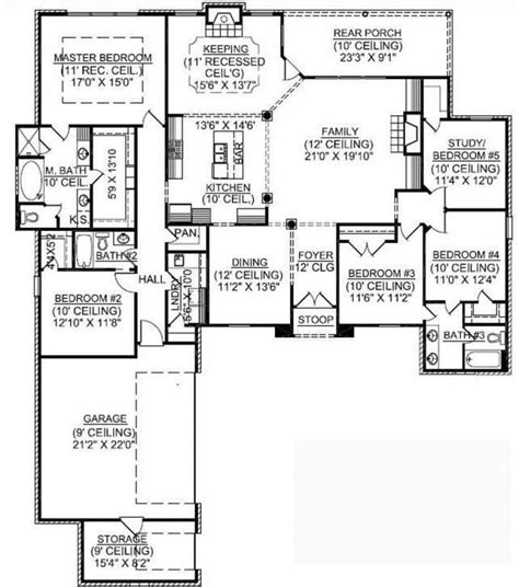 5 bedroom floor plans 1 story 5 6 bedroom house plans new 1 story 5 bedroom country house plan house plans new home
