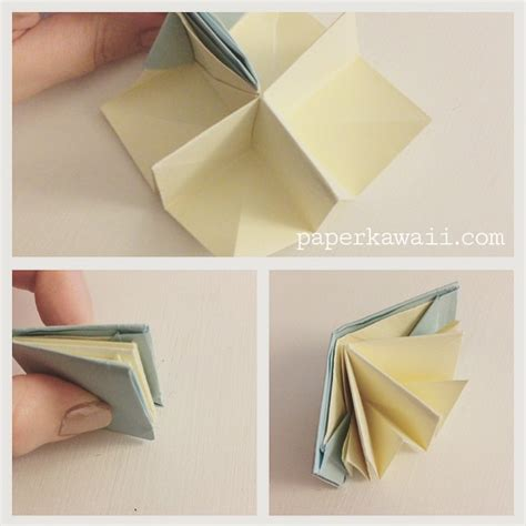 how to make an origami book origami popup book tutorial paper kawaii