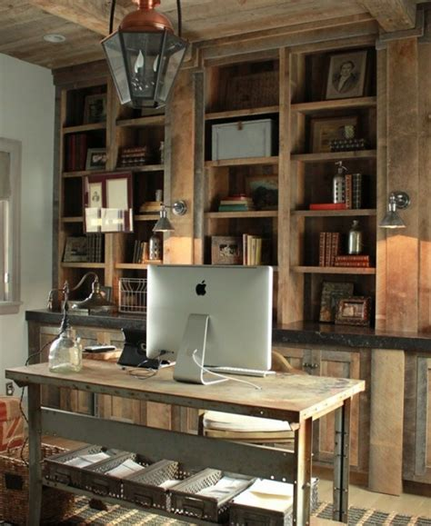 rustic home office furniture 42 awesome rustic home office designs digsdigs