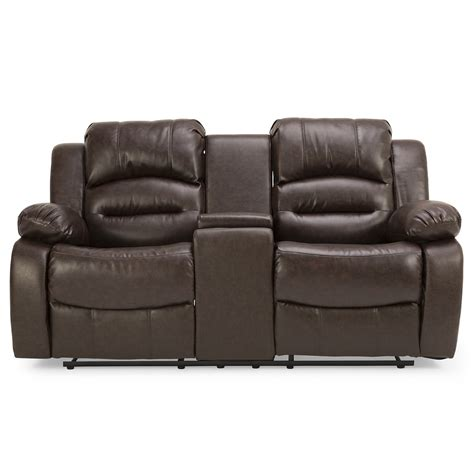 reclining sofa with reclining sofa with console mustang dual reclining sofa