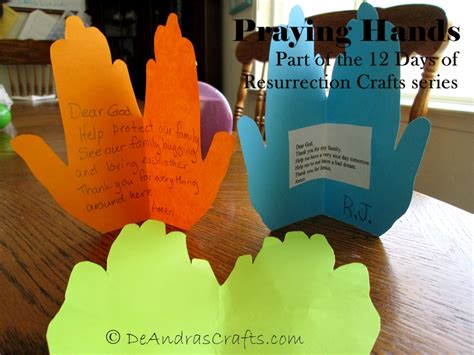 praying craft for praying day 3 of resurrection crafts deandras crafts