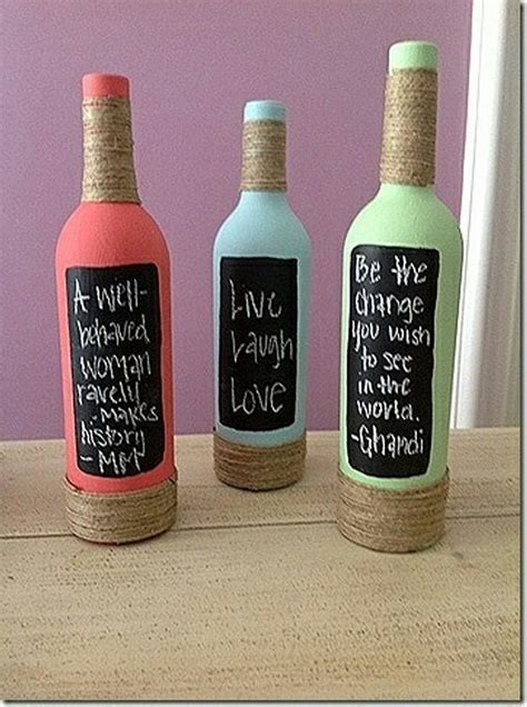 craft projects with wine bottles recycled wine bottles unique decorations recycled things