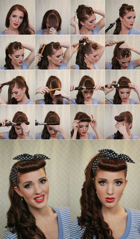 step by step vintage hairstyles step by step guide retro hairstyle gorgeous hair