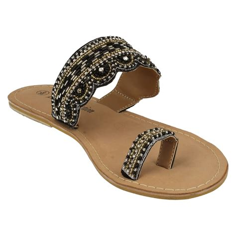beaded toe sandals spot on leather collection beaded toe mule sandals
