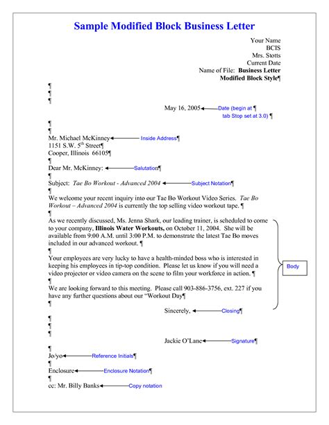 block letter modified block style business letter cover letter templates