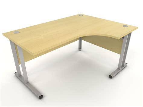 corner desk maple maple 1800mm radial corner desk home office desks uk