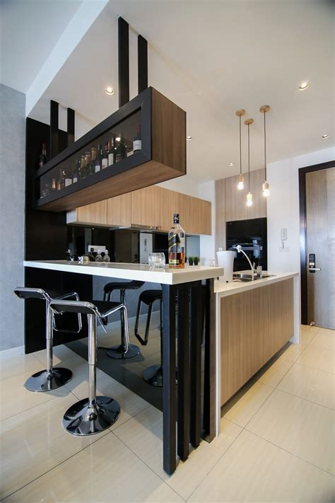 home bar counter modern kitchen design with integrated bar counter for a