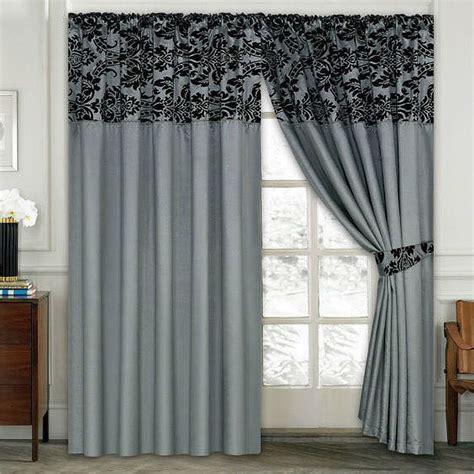 curtain uk luxury damask curtains pair of half flock pencil pleat