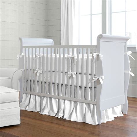baby crib bedding for white baby bedding solid white crib bedding carousel