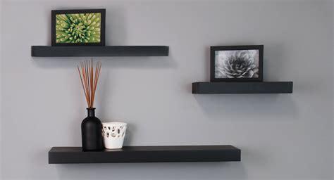 floating black shelves black floating wall shelves by nexxt mnml living