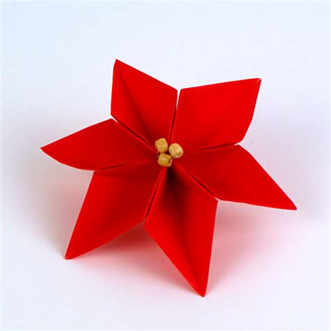 poinsettia paper craft planetjune by june gilbank 187 origami poinsettia