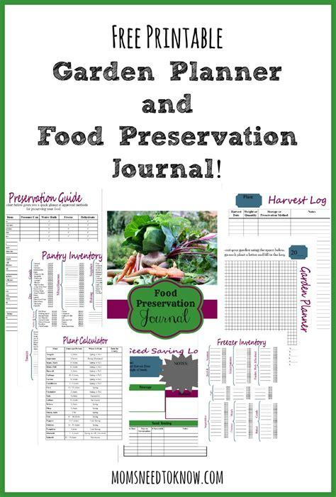 free vegetable garden planner free printable garden planner and food preservation