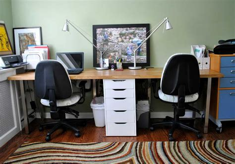 two person desk home office plans to build 2 person home office desk pdf plans