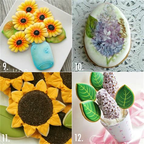 decorating ideas for cookies twenty decorated flower cookie tutorials for mother s day