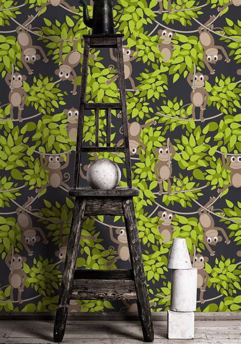 monkey wallpaper for walls monkey wall green funky monkey wallpaper milton king