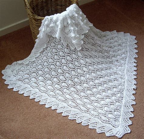 knitting patterns for baby blankets and shawls beautiful baby shawl blanket knitted in a lace