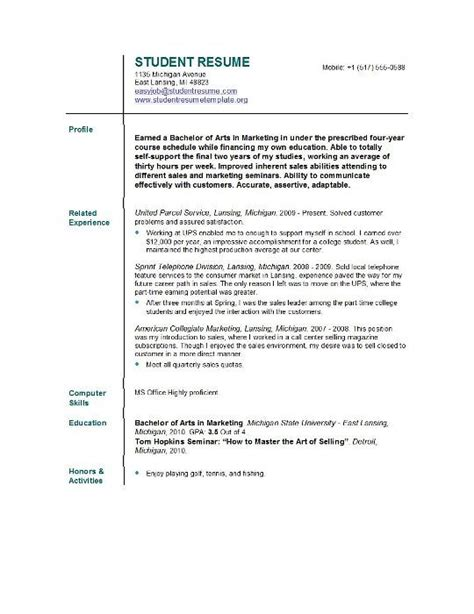 exploring leadership for college students who want to make a difference resume template for college students resume template for