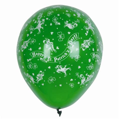 balloon rubber st happy st s day balloons 12 pkg partycheap