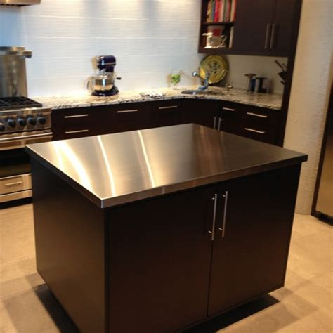 kitchen islands with stainless steel tops stainless steel top kitchen table home design