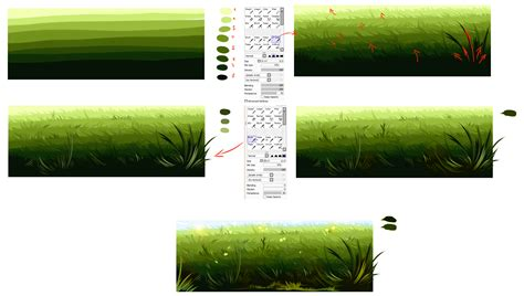 drawing with paint tool sai tutorial easiest way to draw a grass by ryky on deviantart