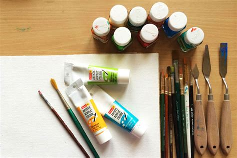 D Source Tools And Materials Acrylic Painting D Source
