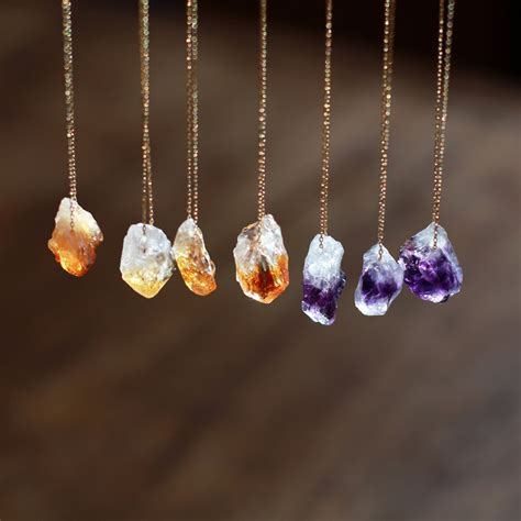 crystals to make jewelry gemstone necklace citrine necklace