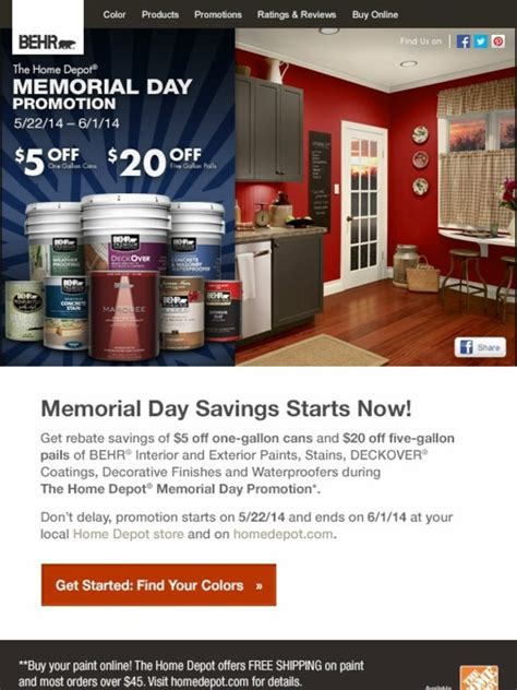 home depot paint manufacturers behr memorial day savings on behr 174 paints stains at