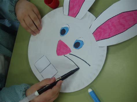 bunny craft for easter rabbit paper dish c e i p vidal portela