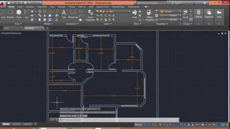 using autocad to draw house plans autocad 2016 floor plan drawing