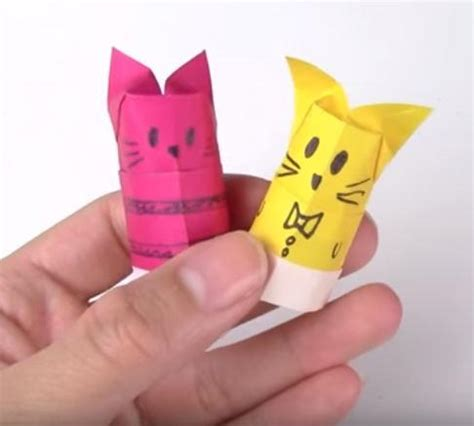 origami puppets origami cat finger puppets allfreepapercrafts