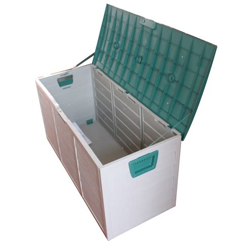 plastic patio storage boxes new garden outdoor plastic storage chest shed box container lid wheels uk ebay