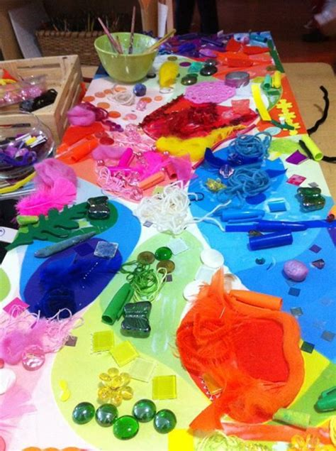 arts and craft projects colour collage work at acorn school quot colour science