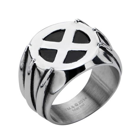 ring x x wolverine claw logo ring