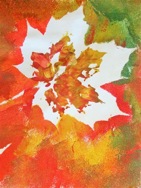 autumn craft autumn leaf painting craft ideas for
