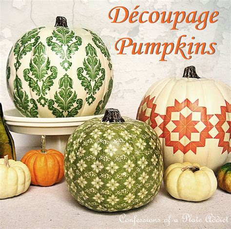 decoupage pumpkins it s inspiration friday no 80 welcome at the picket fence