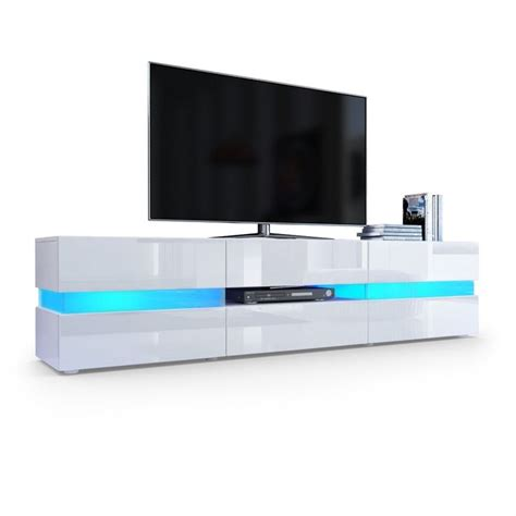 kitchen unit led lights tv unit cabinet flow in white matt white high gloss with
