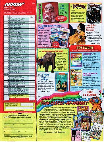 order picture books scholastic arrow book club news feb 1991 flickr photo
