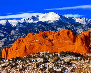 Garden Of The Gods To Pikes Peak Sweet America Pikes Peak Mounatin From Garden Of The Gods