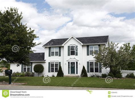 two story home white two story home stock photos image 5339453