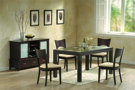 contemporary dining room chairs modern dining room furniture frosted glass and chocolate brown contemporary dining room set 2589